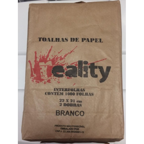 PAPEL TOALHA 2D FS BCO REALITY C/1000
