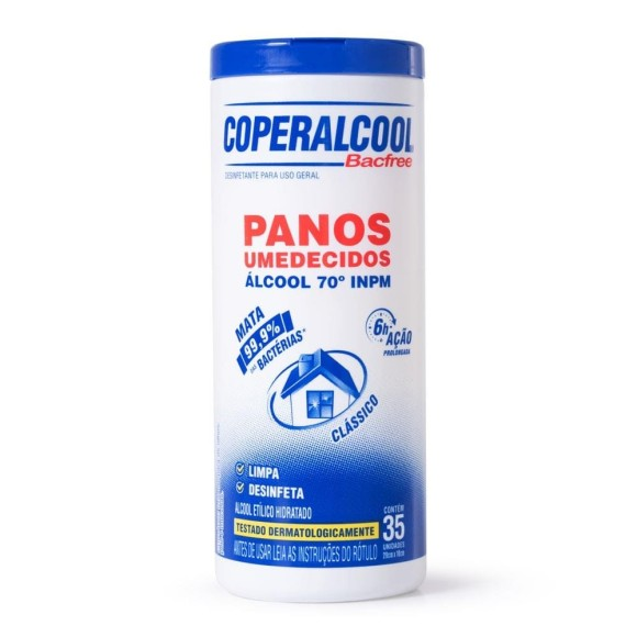PANO UMEDECIDO 70° COPERALCOOL C/35